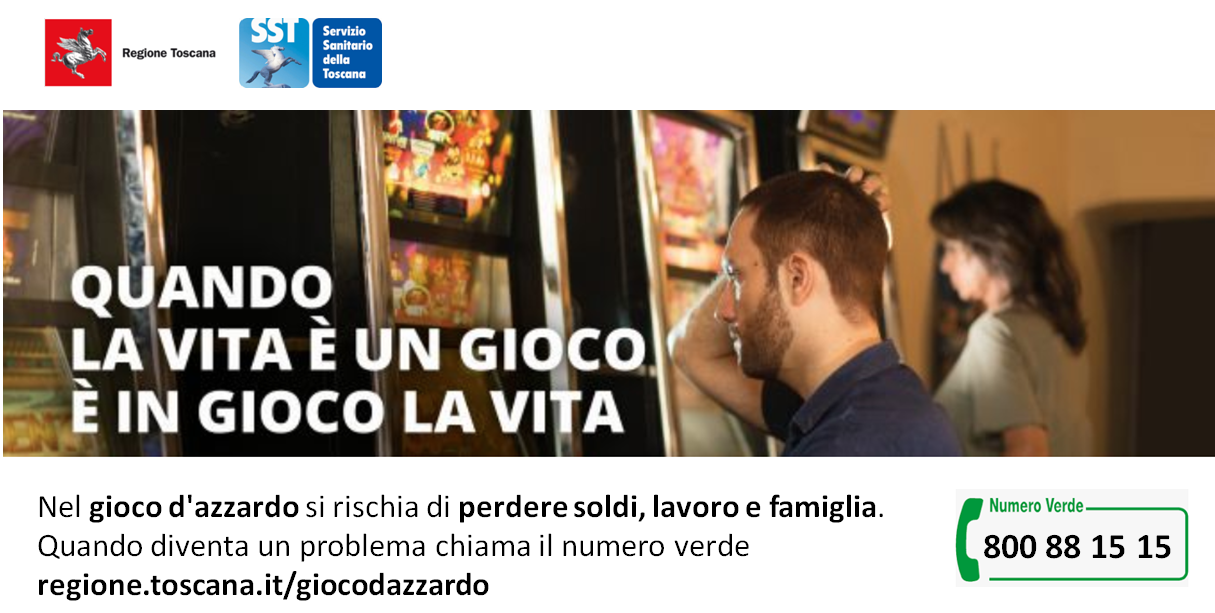 Campagna Regionale Gioco d'azzardo (GAP)