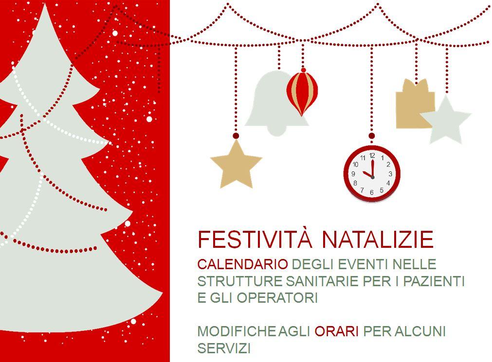 Festività natalizie 2019/20 - Eventi e orari