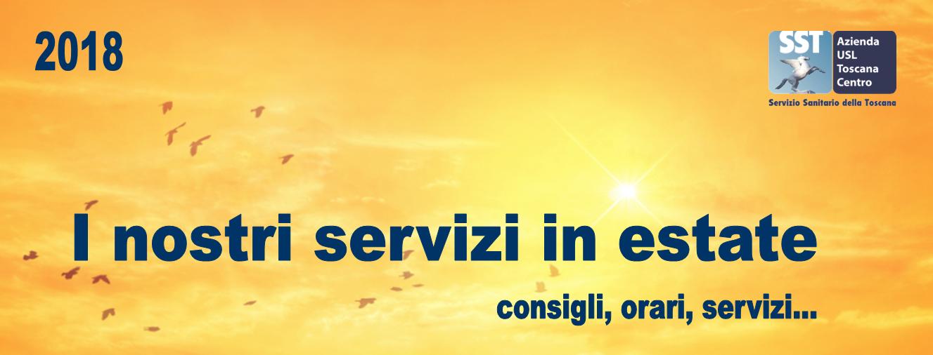 I nostri servizi in estate